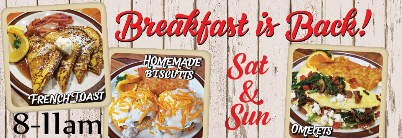 Moosejaw Breakfast Sat & Sun 8-11am