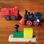 Red or Black Wind Up Train - 3.49 each & Wooden Train Whistle - 4.29