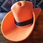 Foam Cowboy Hat Orange - 18.99