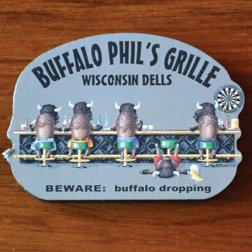 Buffalo Dropping Sticker - 2.99 or Magnet - 4.99