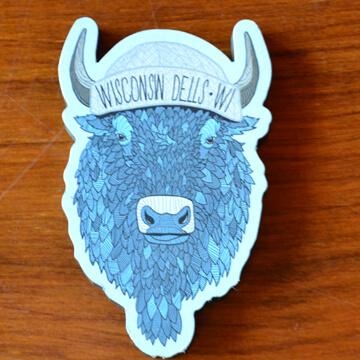Buffalo Face choose Keychain - 4.99 or Magnet - 4.99