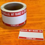 "2.5"" x 3.5"" Hello, My Name is...Sticker (pack of 20) - 2.99"